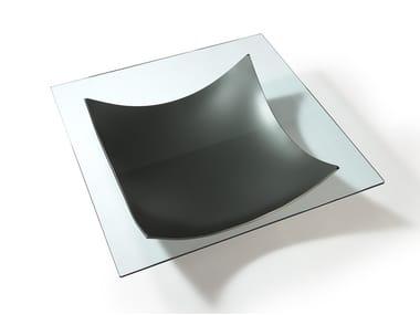 Tavolino quadrato in vetro VELA | Tavolino