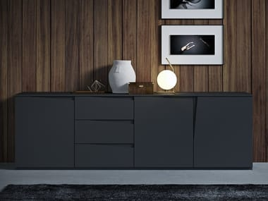 Lacquered wooden sideboard with doors VELA | Sideboard