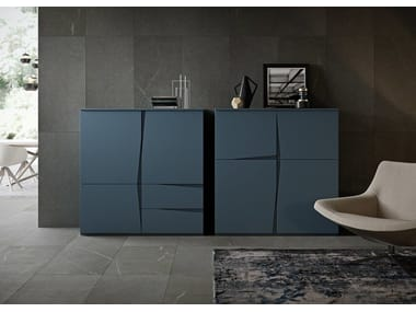 Lacquered highboard with doors VELA | Highboard