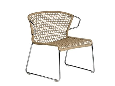 Garden armchair with armrests VELA | Garden armchair