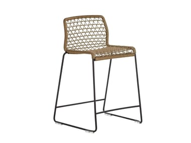 Stool with back VELA | Stool with footrest