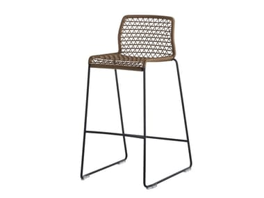 High stool with footrest VELA | Stool