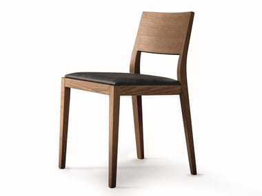 Canaletto walnut chair and eco-leather seat VELASCA