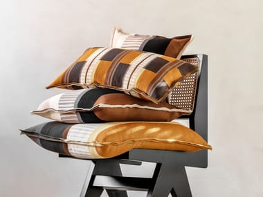 Geometric merino wool cushion VELDEN | Cushion