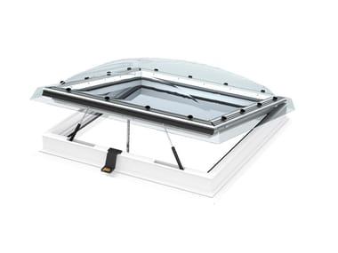 Finestra per tetti piani elettrica con cupola CVP INTEGRA®