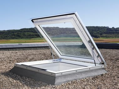 Top-hung roof window VELUX flat roof exit solution