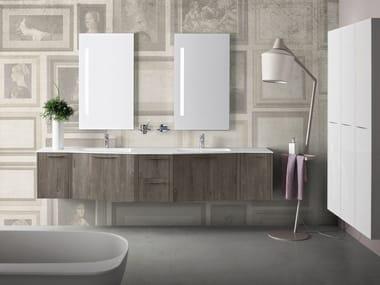 Mobile bagno sospeso con specchio VELVET 9921