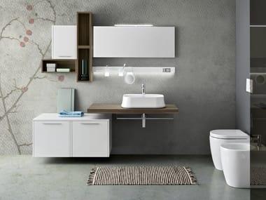 Mobile bagno sospeso con specchio VELVET 9990