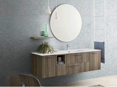 Mobile bagno sospeso con specchio VELVET 9993