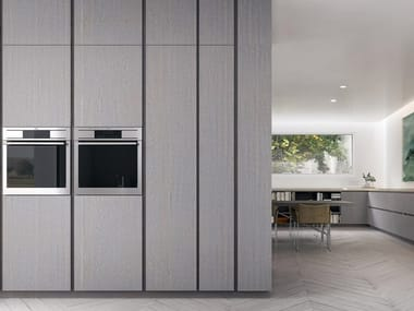Linear oak fitted kitchen VELVET | Linear kitchen