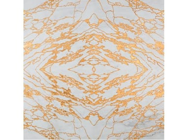 Gold leaf and Calacatta marble wall/floor tiles VENA ORO
