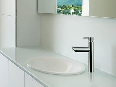 Miscelatore per lavabo da piano in acciaio inox VENERE | Miscelatore per lavabo