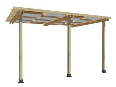 Wall-mounted fir pergola VENERE | Pergola