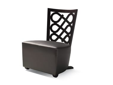 Upholstered leather easy chair VENERE | Easy chair