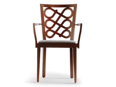 Fabric chair with armrests VENERE   Chair with armrests
