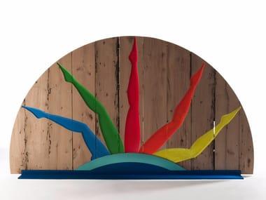 Briccola wood room divider VENETIAN MERMAIDS