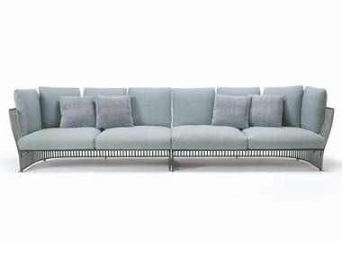 Sectional modular fabric and aluminium garden sofa VENEXIA   Sectional garden sofa