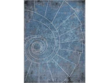 Handmade rectangular rug VENEZIA CELESTE
