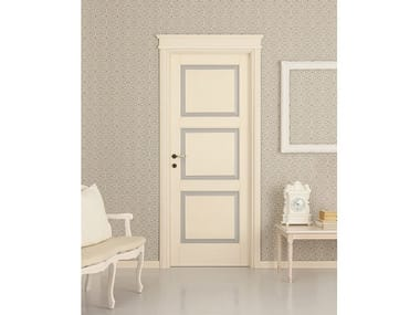 Lacquered solid wood door VENEZIANA