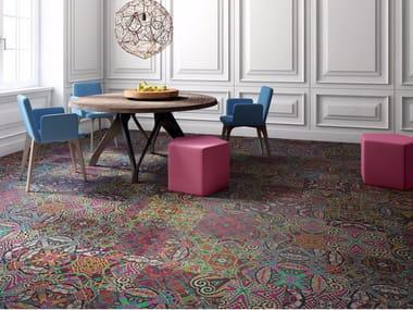 Patterned carpet tiles VENICE