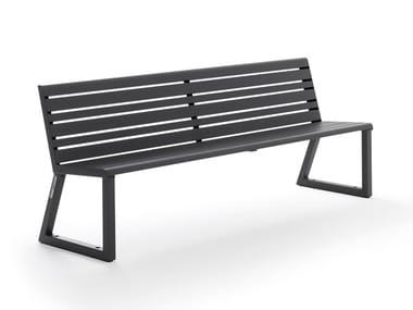 Panchina in alluminio con schienale VENTIQUATTRORE.H24 | Panchina con schienale