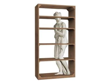Open oak bookcase VENUS