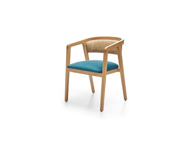 Open back fabric chair VENUS E