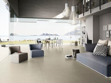Porcelain stoneware wall/floor tiles with concrete effect with resin effect VENUS MAXIMUM