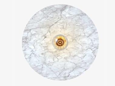 Handmade Carrara marble wall lamp VENUS