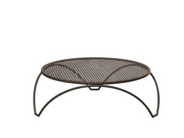 Tavolino basso da giardino rotondo in acciaio VERA | Tavolino basso
