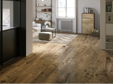 Porcelain stoneware flooring with wood effect VERO