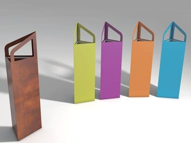 Steel litter bin / umbrella stand VERSA V1