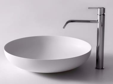 Countertop round Flumood® washbasin VERSO
