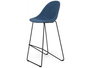 Fabric stool with footrest VI | Fabric stool