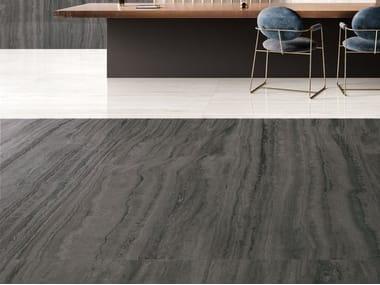 Pavimento/rivestimento in gres porcellanato effetto marmo VIA APPIA VEIN CUT DARK