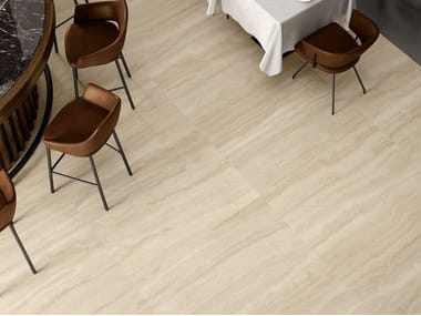 Pavimento/rivestimento in gres porcellanato effetto marmo VIA APPIA VEIN CUT BEIGE