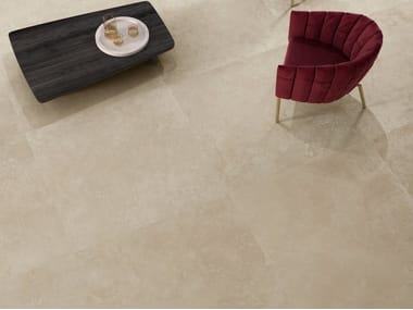 Porcelain stoneware wall/floor tiles with marble effect VIA APPIA CROSS CUT BEIGE