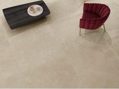 Pavimento/rivestimento in gres porcellanato effetto marmo VIA APPIA CROSS CUT BEIGE