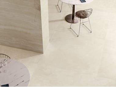 Pavimento/rivestimento in gres porcellanato effetto marmo VIA APPIA CROSS CUT IVORY