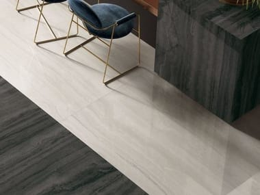 Pavimento/rivestimento in gres porcellanato effetto marmo VIA APPIA VEIN CUT WHITE