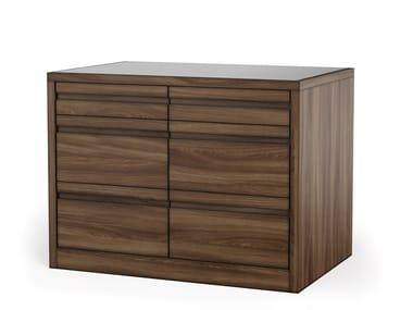 Wood veneer chest of drawers VIA