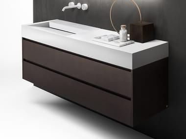 Single wall-mounted vanity unit with drawers VIAVENETO | Single vanity unit