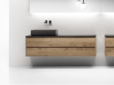 Single wall-mounted vanity unit with drawers VIAVENETO | Vanity unit