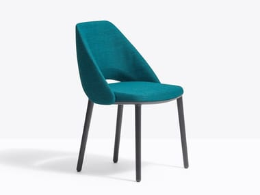 Upholstered fabric chair VIC 655