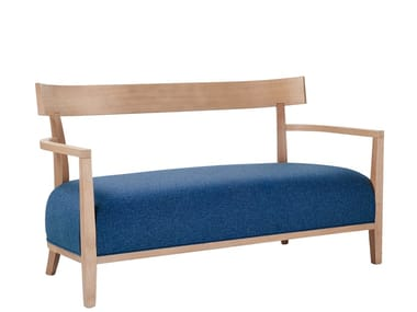 Upholstered bench with back VICTOR | Bench with back