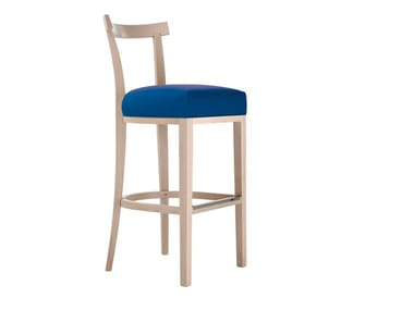 High upholstered beech stool VICTOR | Stool