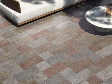 Pavimento per esterni in gres porcellanato effetto pietra VIE DELLA PIETRA ALTAVALLE