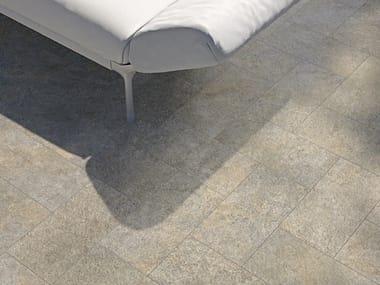 Pavimento per esterni in gres porcellanato effetto pietra VIE DELLA PIETRA FOEHN