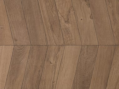 Porcelain stoneware wall/floor tiles with wood effect VIENA COGNAC