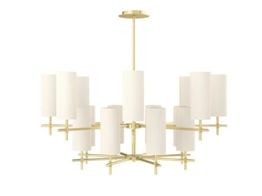 Indirect light brass pendant lamp VIENNA | Pendant lamp